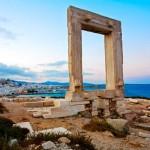 Portales Gateway Temple of Apollo Naxos Cyclades Islands Greece.